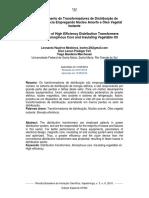 Desenvolvimento de Transformadores de Distribuição de Elevada Eficiência Empregando Núcleo Amorfo e Óleo Vegetal Isolante