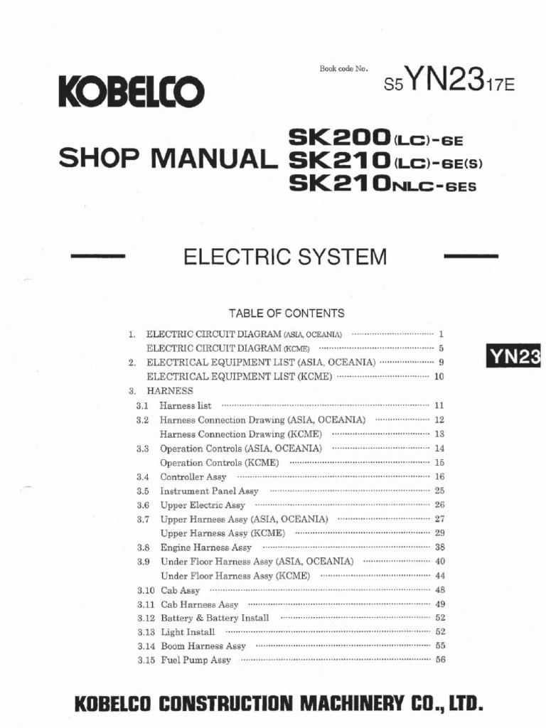 kobelco sk200 rh scribd com Plug Wiring Diagram Plug Wiring Diagram
