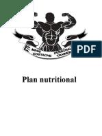 Plan de nutritie