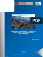 CÁLCULO DEL PELIGRO SÍSMICO PROBABILÍSTICO PARA EL VALLE DEL CAÑÓN DEL COLCA Región de Arequipa