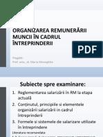 Tema 13- ORGANIZAREA REMUNERĂRII MUNCII ÎN CA