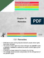 Legal Summary Ch 13 REMEDIES