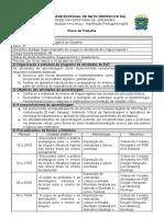 Plano de Trabalho - Estágio Supervisionado Língua e Literaruras de Inglês I