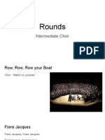 rounds - intermediate choir