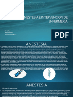 ANESTESIA E INTERVENCION DE ENFERMERIA