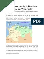 Consecuencias de la Posición Geográfica de Venezuela