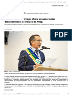 Portal Governo do Amapá - Durante posse, governador afirma que vai priorizar desenvolvimento econômico do Amapá