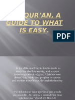 The Qur'an, a Guide to what is