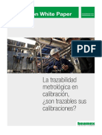 Beamex White Paper - Traceability in calibration ESP