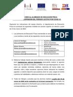 Plan COVID 19 Educación Física