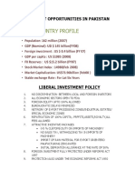 Investment Opportunitie in Pakistan