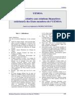 UEMOA%20-%20Relations%20financieres%20exterieures[1]
