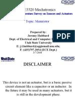 Literature Survey on Sensors and Actuators_Topic