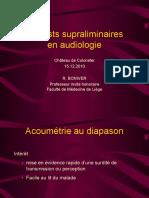Les tests supraliminaires en audiométrie (12.2010)
