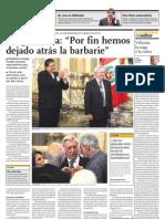 Vargas Llosa por fin hemos dejado atrás la barbarie