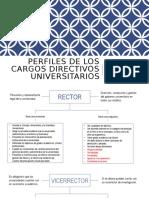 Perfiles de los cargos directivos universitarios