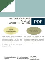 Un Curriculum para la anti-educación