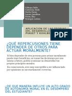 APLICACION DE LAS TEORIAS DEL DESARROLLO MORAL D