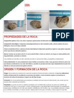 Ficha Tecnica Rocas -Arcillolita silicea