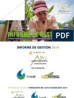 INFORME DE GESTION FUNDACION DEL ALTO MAGDALENA 2019