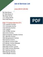 Dishtv Channel List