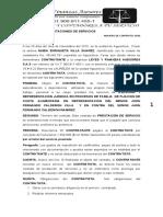 CONTRATO PRESTACION DE SERVICIOS nubia