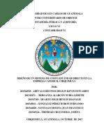 DISEÑO DE UN SISTEMA DE COSTO ESTÁNDAR DIRECTO EN LA EMPRESA CAFERICH, CHIQUIMULA