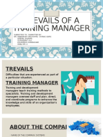 TREVAILS OF A TRAINING MANAGER