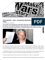 CIA Created ISIS — Video – Assange Drops Bombshell on WikiLeaks Release of 500K US Cables _