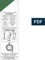 Características cincha de poliéster y modo operativo