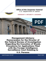 OIG Review - FISA Compliance - Oct 2014 Through Sept 2019