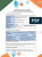 Guía de actividades y rúbrica de evaluación - Fase 4 - Realizar la matriz de Ansoff para la estrategia de nuevos productos
