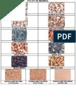 Granulometría del polvo de mármol