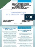 fundamento legal de la educacion en venezuela