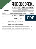 Periódico oficial Fondos Guanajuato 2020
