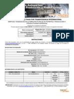 Formula Rio Transfer en CIA