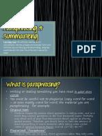 Paraphrasing & Summarizing Presentation