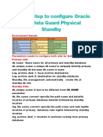Step by Step to configure Oracle 19c Data Guard Physical Standby