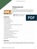 Chicken Burritos Recipe