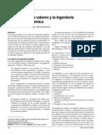 Los Valores y la IngenierÃ_a QuÃ_mica