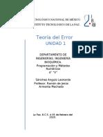 Teoría del Error
