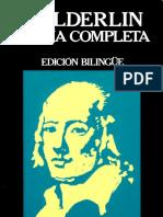 Hölderlin Friedrich Poesia Completa Edicion Bilingüe