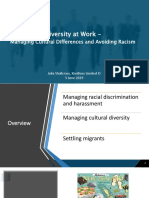 Diversity at Work - Managing Cultural Differences and Avoiding Racism(Workbook)