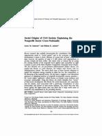 SALAMON - ANHEIER Social Origins of Civil Society- Explaining the Nonprofit Sector  (R)