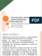 História da Psicologia hospitalar - Aula 02
