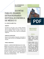 GUÍA DE PREGUNTAS PARA EL EXAMEN EXTRAORDINARIO- HISTORIA ECONÓMICA DE MÉXICO II