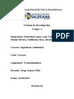 Investigación bibliográfica termodinámica