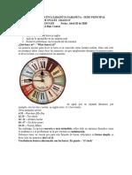 Guía grado 6 La hora en inglés