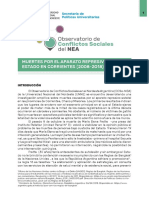 Informe Muertes por aparato represivo del Estado (Ctes 2008-2018)