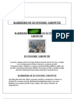 Dificulties in Economic Groth